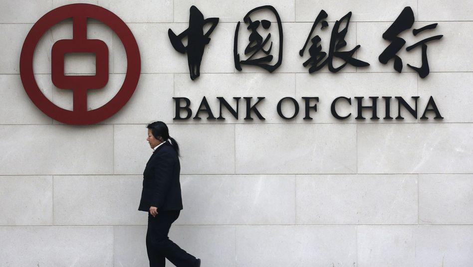 """Filiale der Bank of China in Peking: """"Berichte abschwächen"""""""