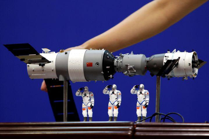 """Modell der Raumstation """"Tiangong 1"""""""