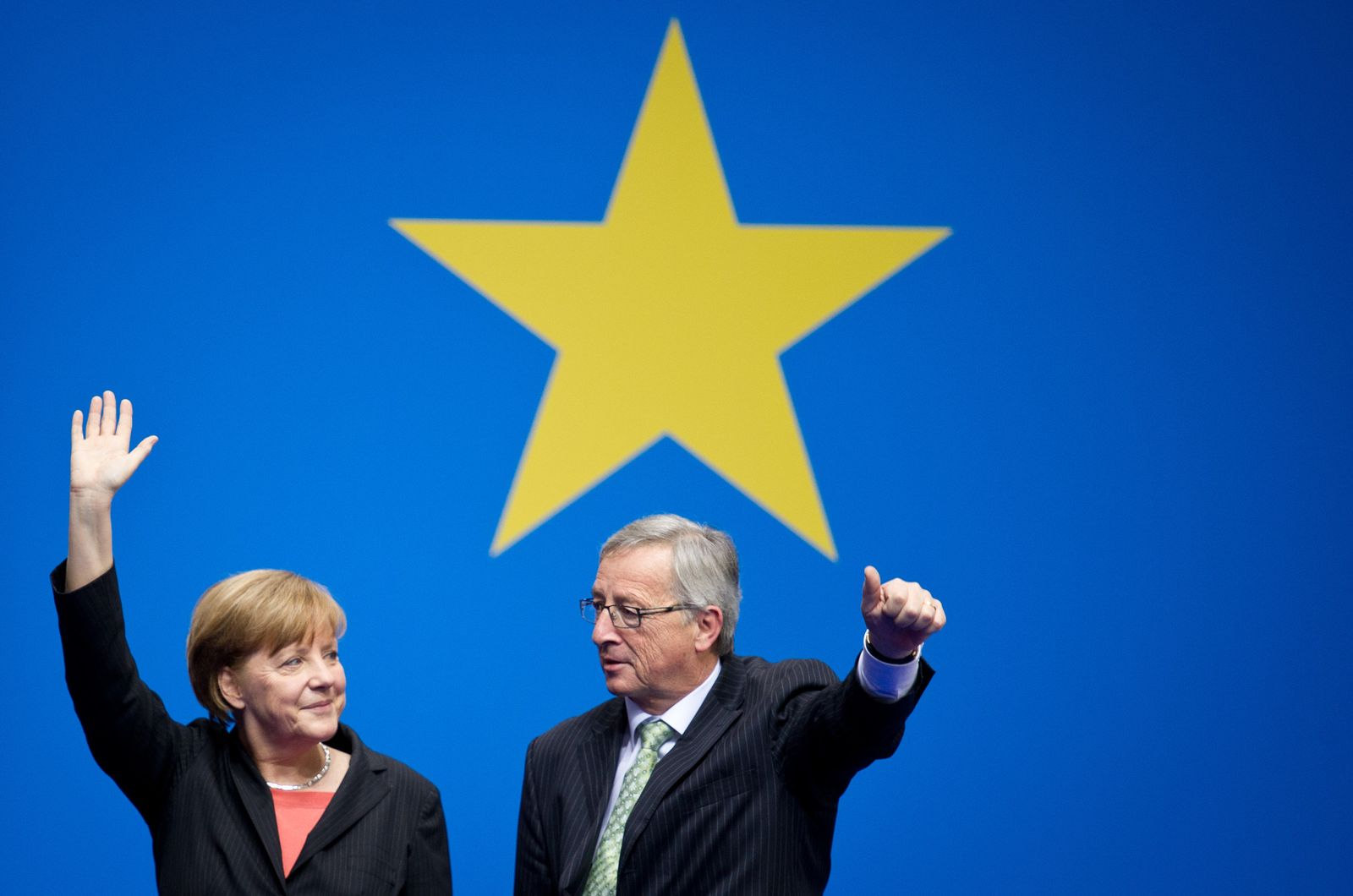 Europawahlen/ Merkel/ Juncker