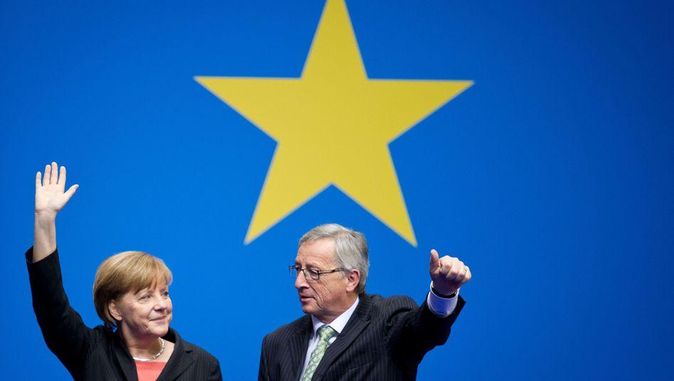 Bundeskanzlerin Merkel, Spitzenkandidat Juncker (2014)