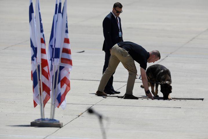 Sicherheitskräfte auf Ben Gurion-Flughafen