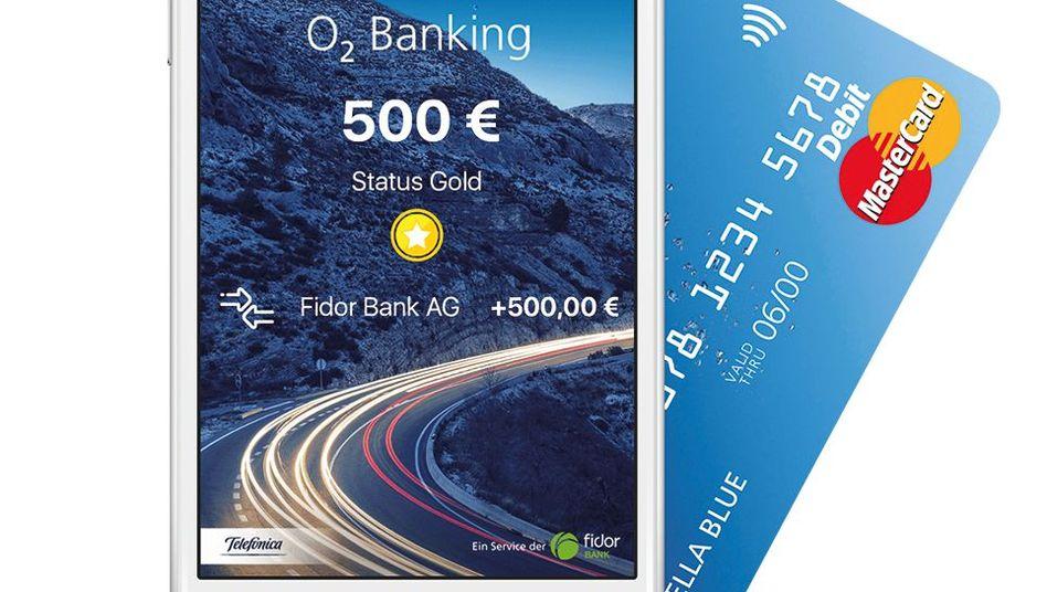 Screenshot der O2-Banking-App
