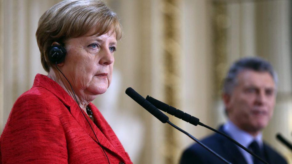 Angela Merkel und Mauricio Macri
