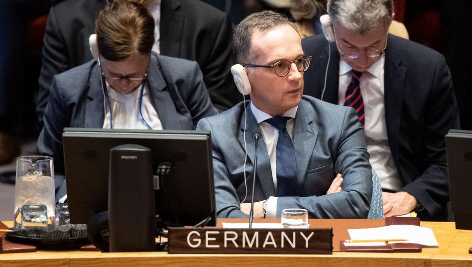 Heiko Maas bei einer Sitzung des Sicherheitsrats der Vereinten Nationen