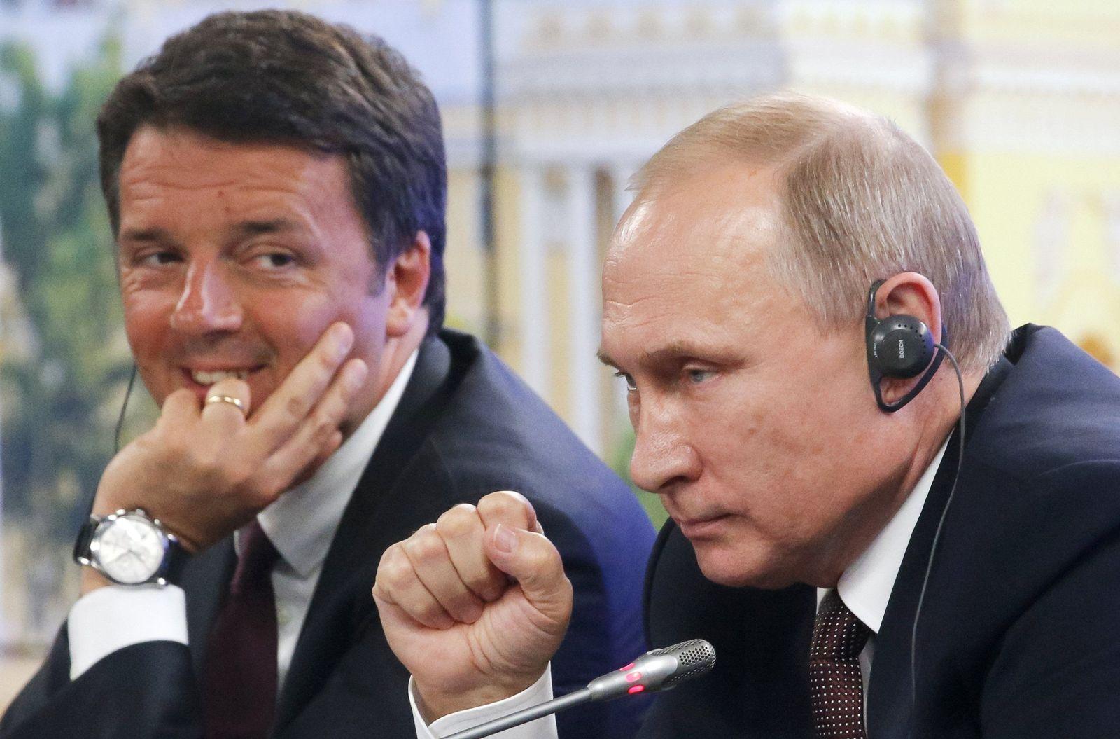 russland putin renzi