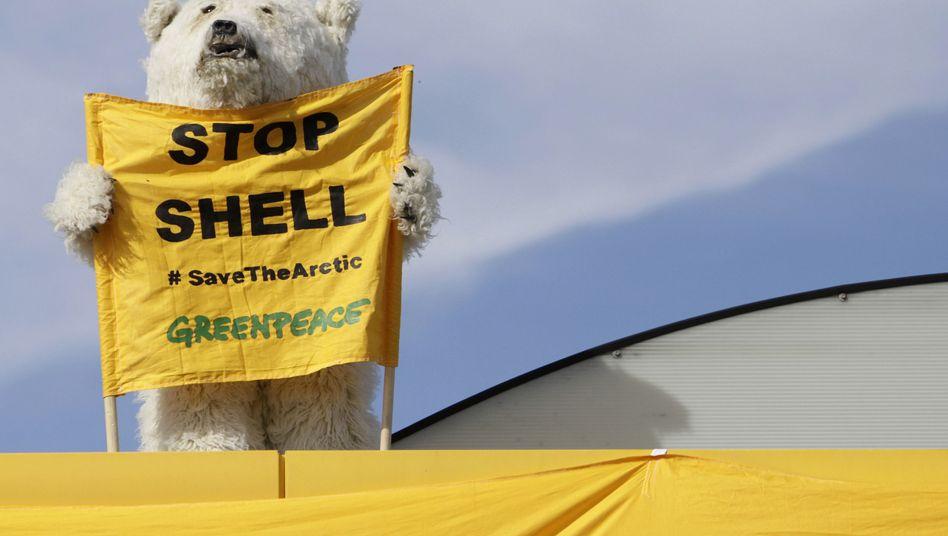 Protest gegen Shell (Prag, Mai 2012): Konzern pausiert bei Arktis-Bohrungen