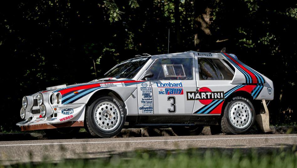 Der Finne Markku Alén raste mit diesem Lancia Delta S4 1985 auf den zweiten Platz bei der Lombard RAC Rally in Großbritannien. Nun wird der Wagen versteigert.