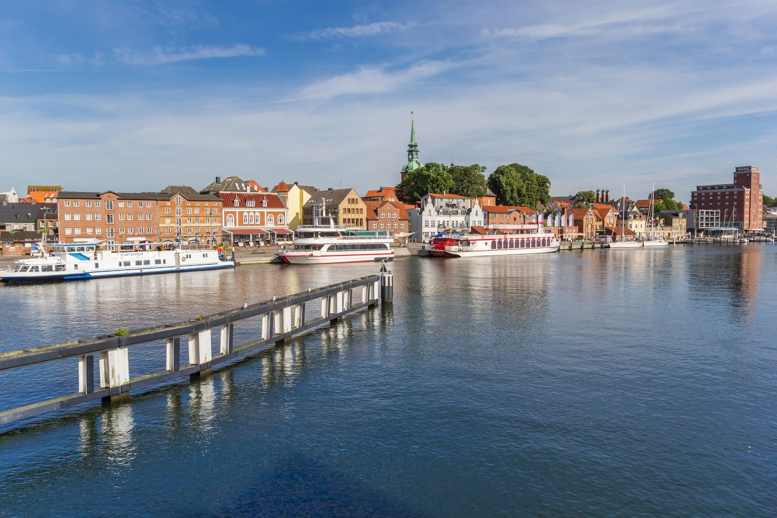 River Schlei and the harbor of historic town Kappeln
