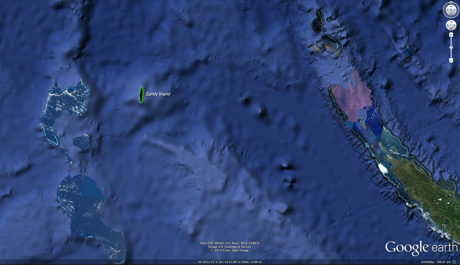SCREENSHOT New Caledonia / Google Earth