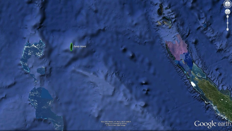Sandy Island bei Google Earth: Schwarzer Fleck, kein Foto