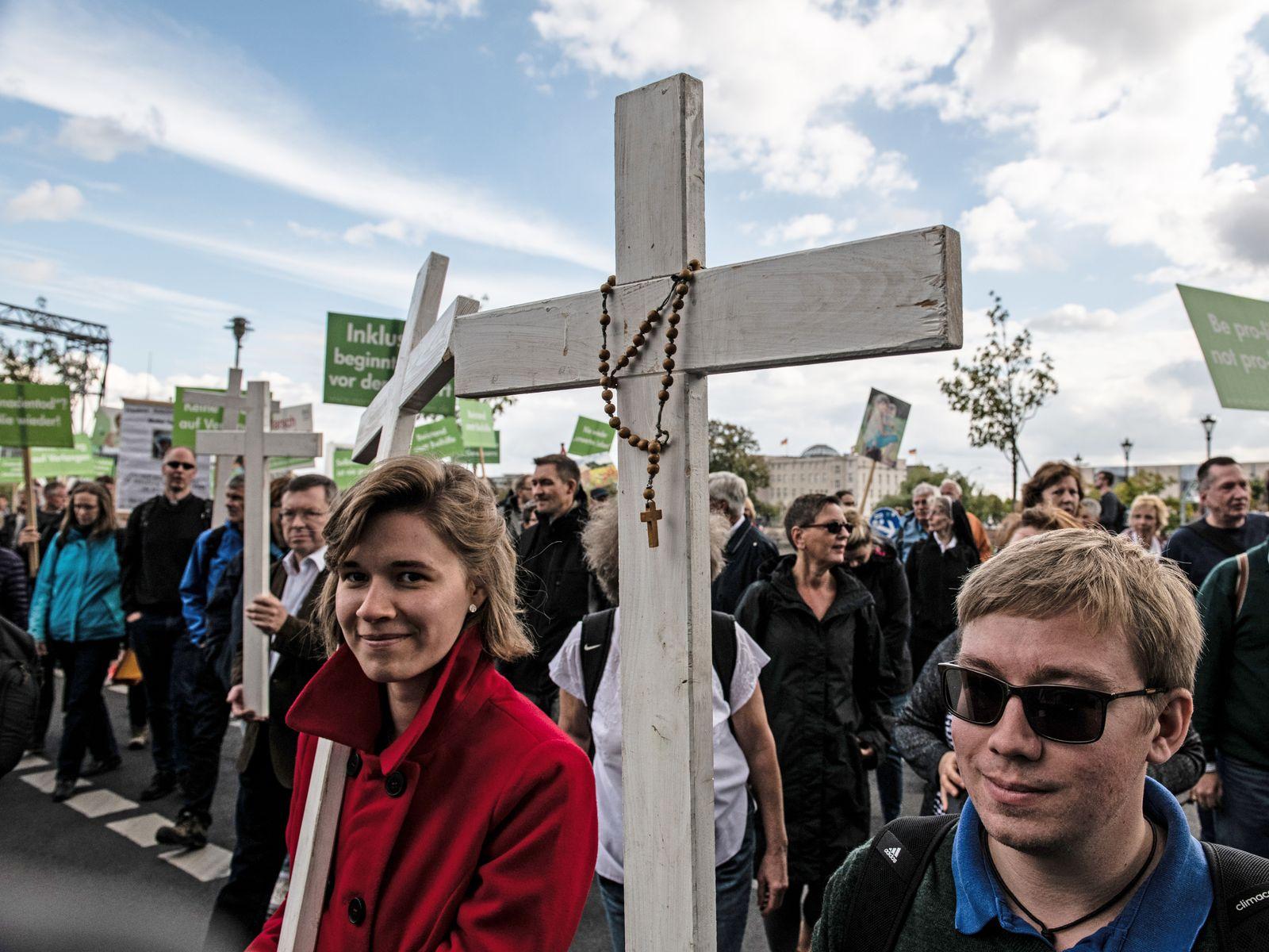 Abtreibung/ Gegner/ Protest