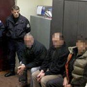 Three German agents, under arrest in Kosovo.