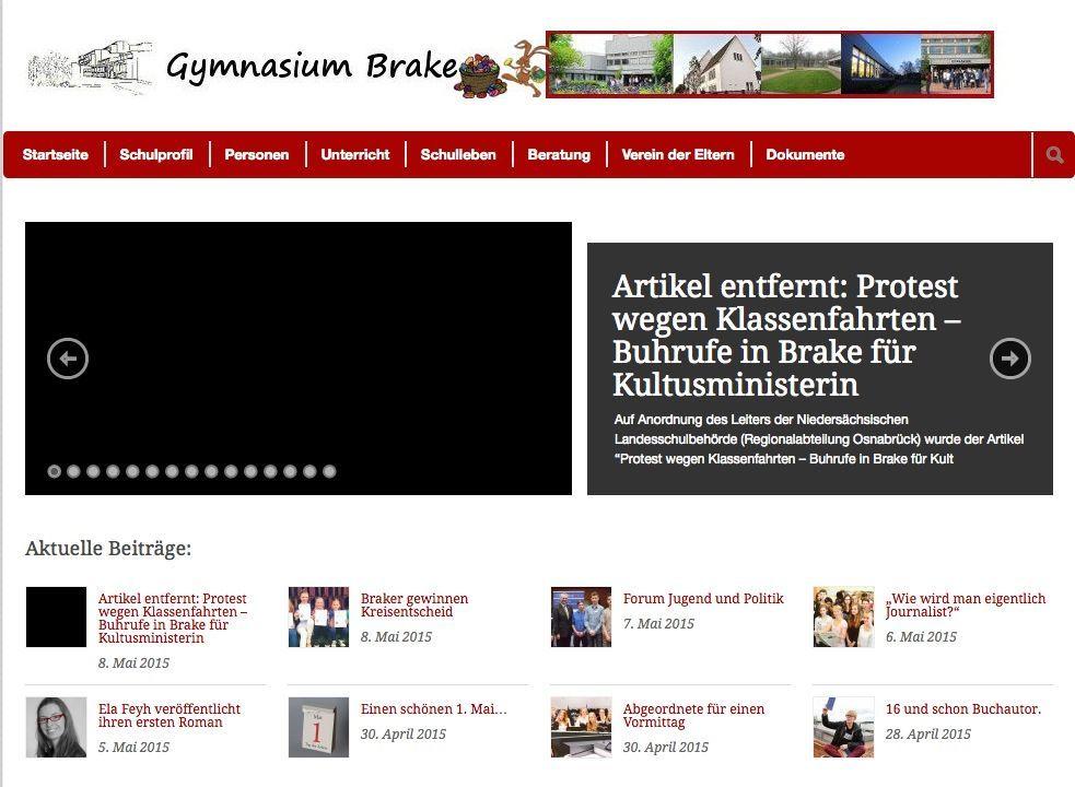 EINMALIGE VERWENDUNG gymnasium-brake.de/ screenshot