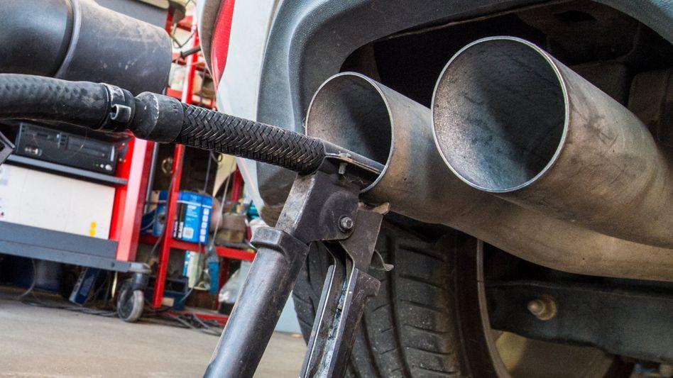 Abgasuntersuchung für Dieselmotoren
