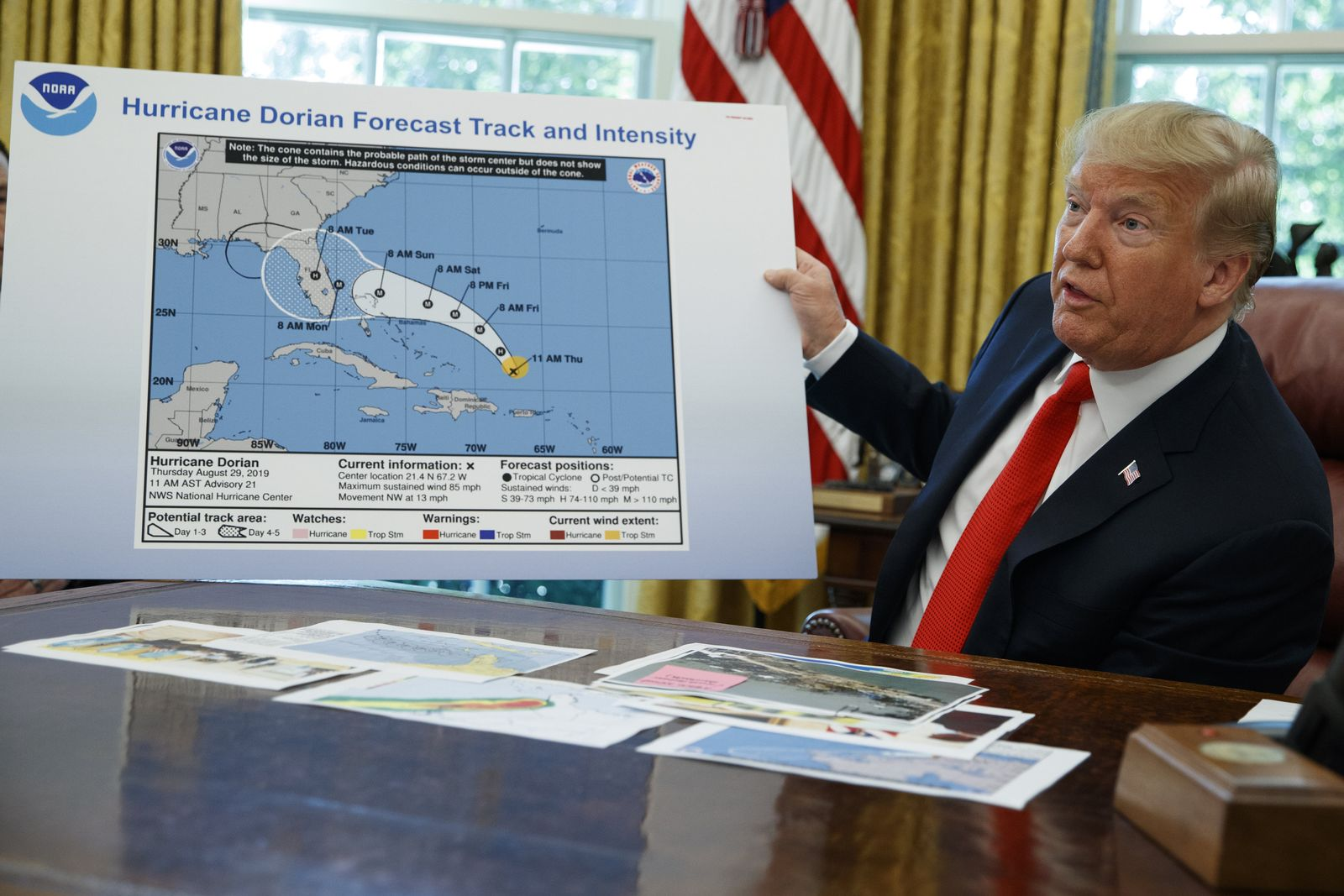 Donald Trump / Dorian / Karte