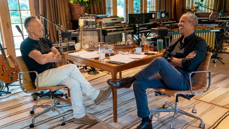 Bruce Springsteen (l.) und Barack Obama sind seit Jahren befreundet