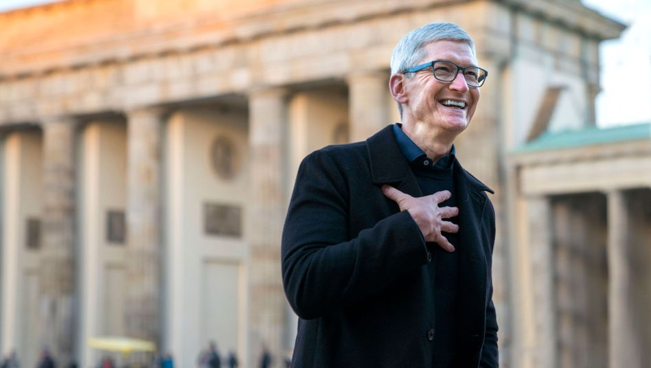 Apple-Chef Tim Cook in Berlin