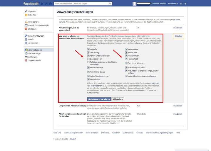 App-Zugriff: Die von Bekannten installierten Programme haben bei Facebook weitreichende Zugriffsrechte