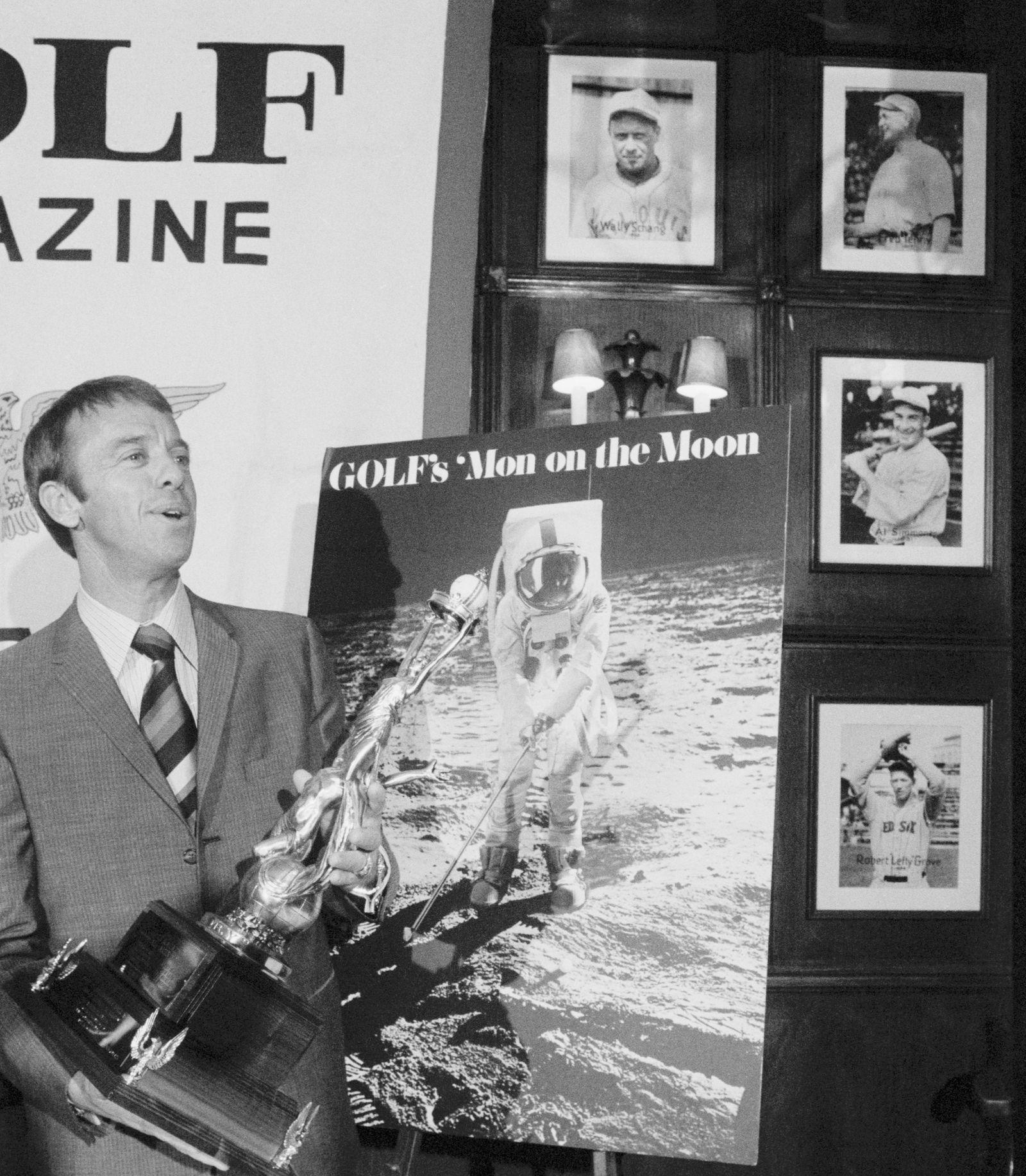 Alan Shepard With Golf Trophy