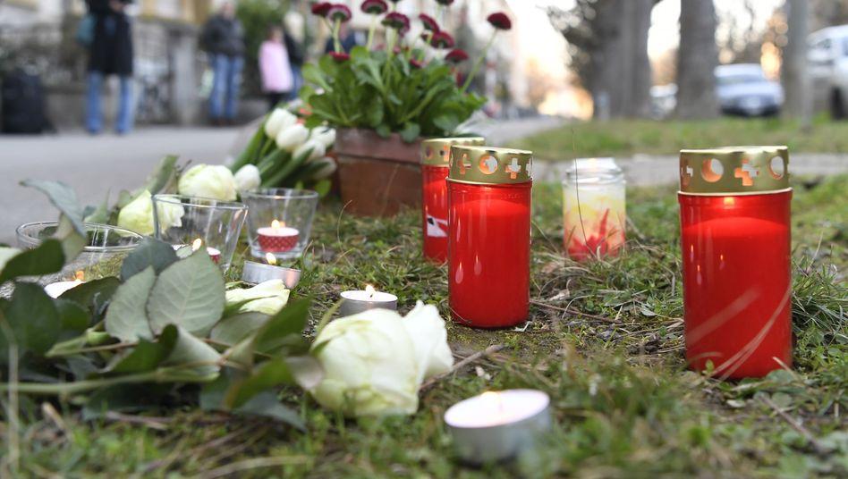 Gedenken an das siebenjährige Opfer in Basel