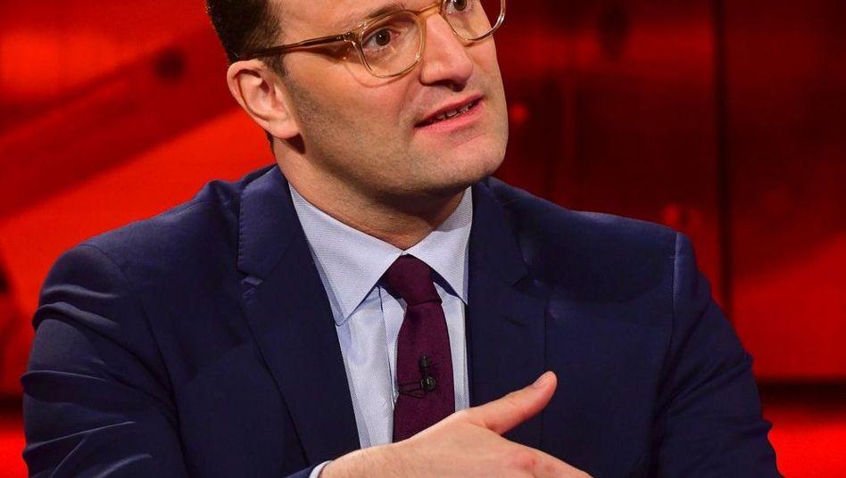 "Bundesgesundheitsminister Jens Spahn im ""Hart aber fair""-Studio"