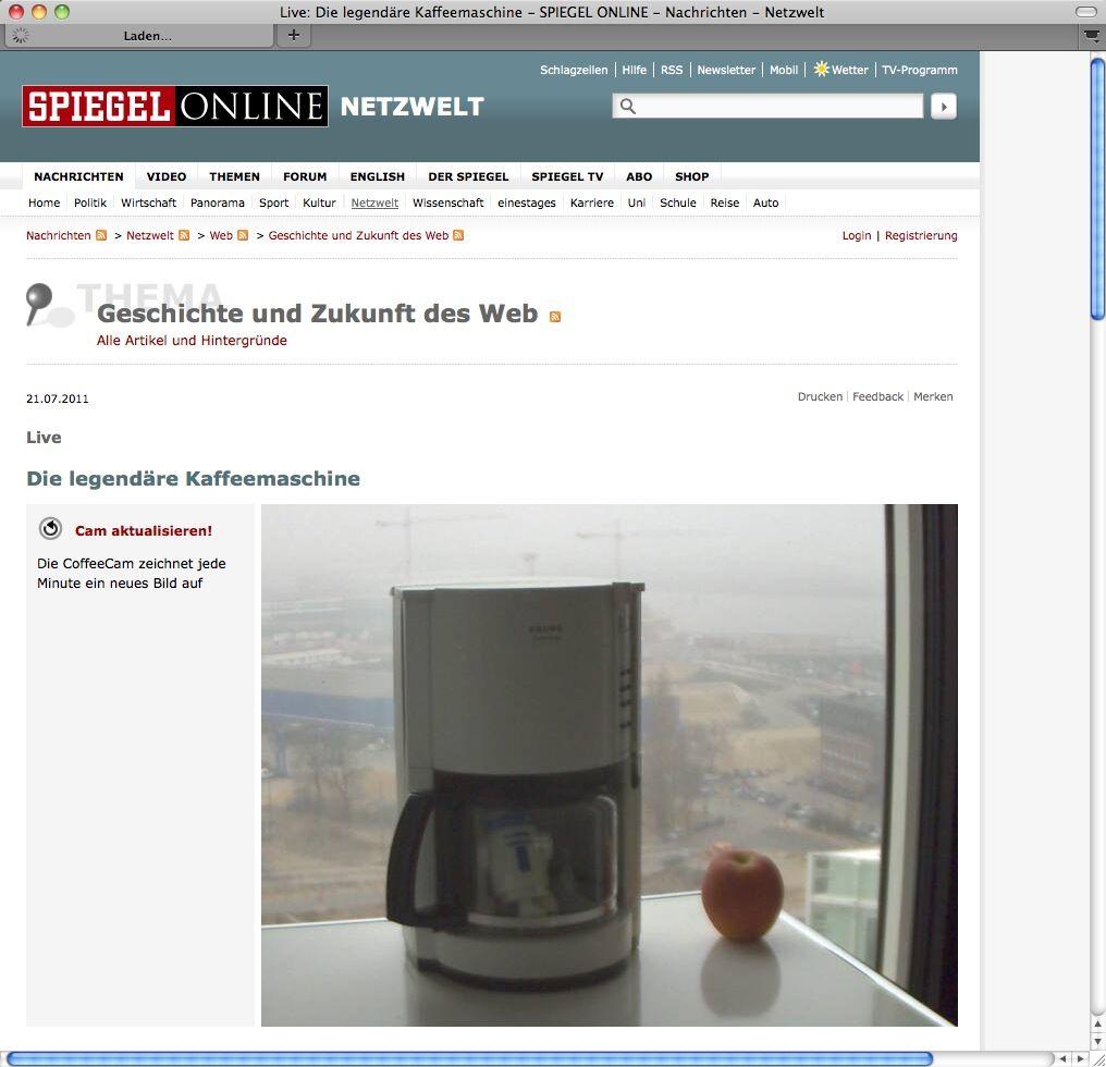 SCREENSHOT SPON Coffeecam / NETZWELT
