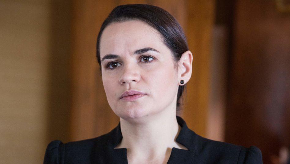 Oppositionsführerin Swetlana Tichanowskaja