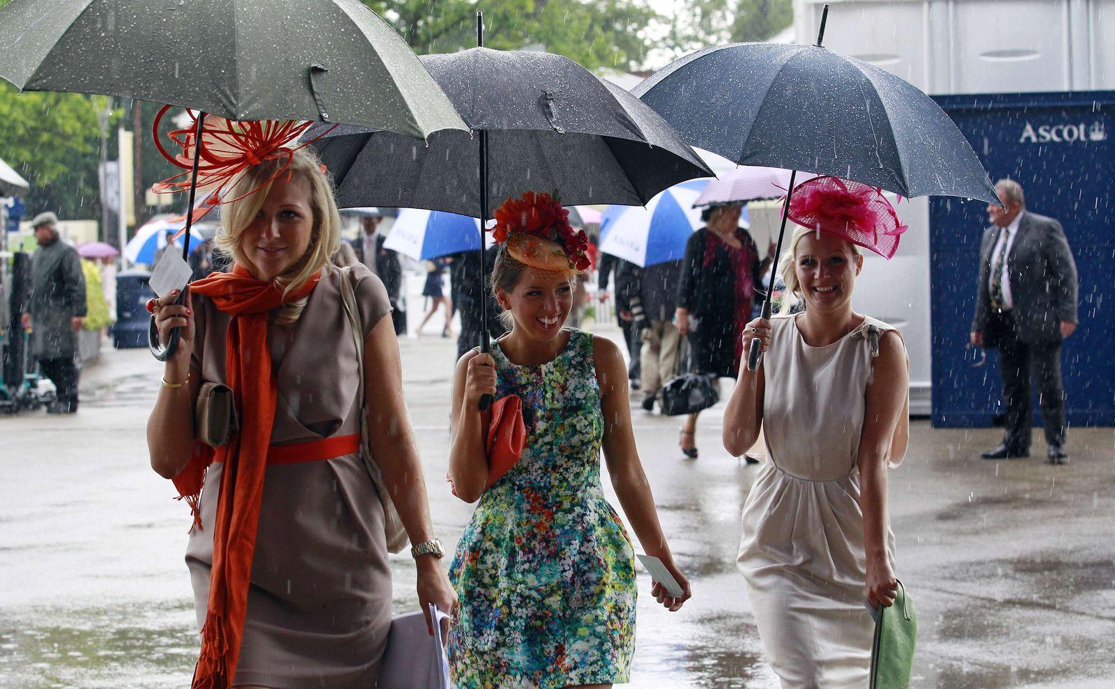 Regen in Ascot
