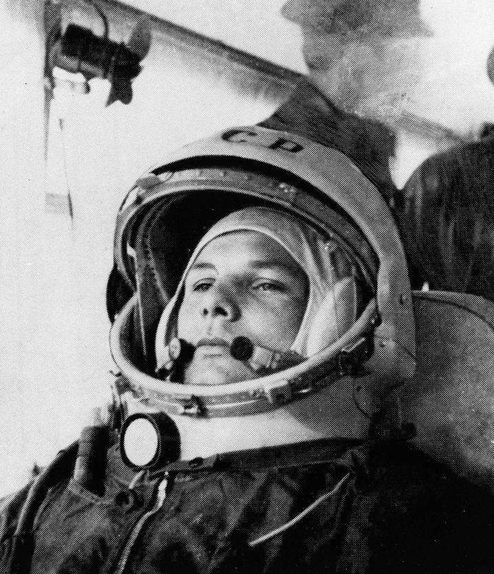 Gagarin im Raumanzug