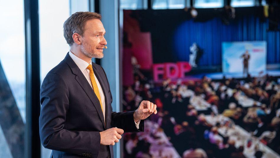 FDP-Chef Lindner beim digitalen Aschermittwoch der FDP in München