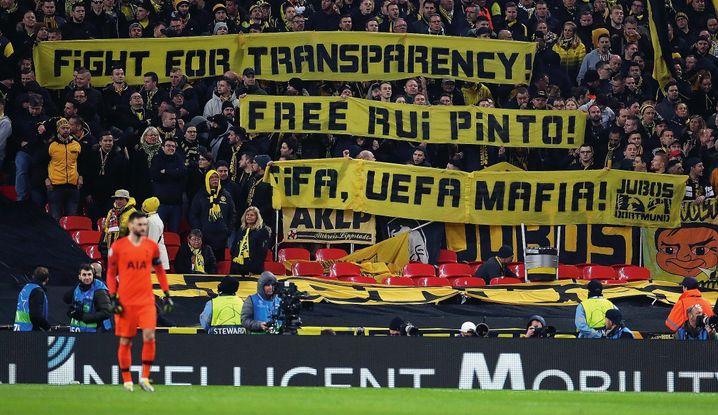 """Pinto-Solidaritätsaktion von Dortmunder Fans im Februar: """"Fußball ist unantastbar"""""""