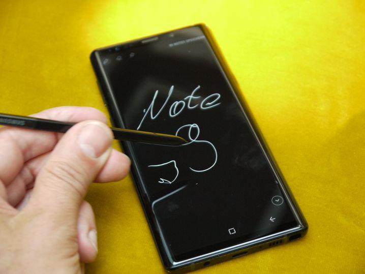 Notiz auf dem Galaxy Note 9