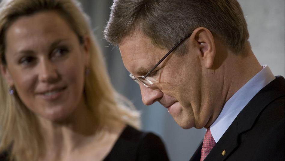 Bundespräsident Wulff, Gattin Bettina beim Neujahrsempfang für verdiente Bürger