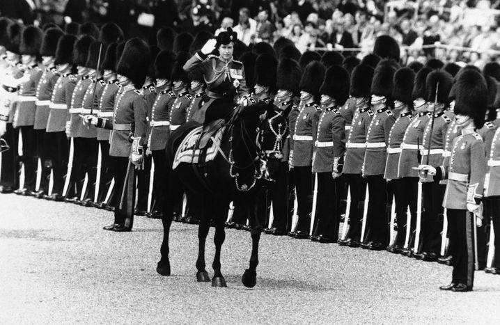 "Queen Elizabeth II. bei der ""Trooping the Colour""-Parade 1979"