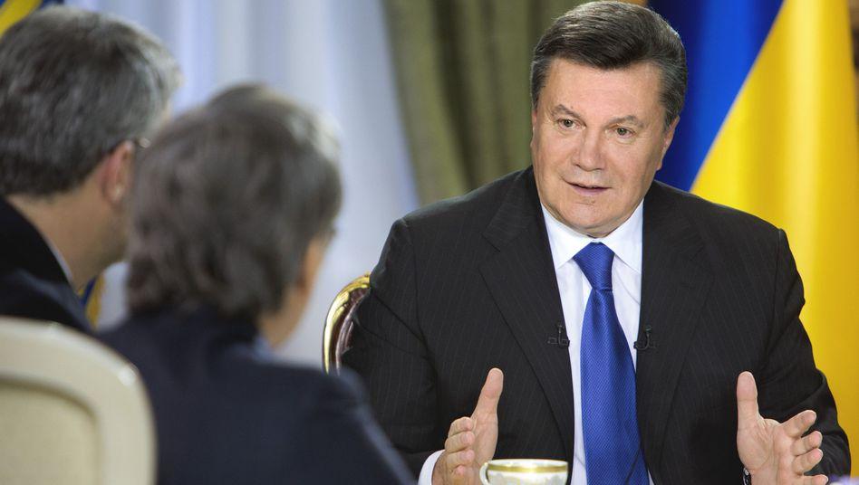 """Präsident Wiktor Janukowitsch: """"Ukraine nicht stark genug für Abkommen mit EU"""""""