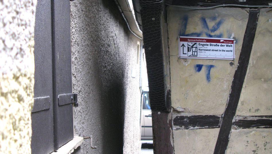 Spreuerhofstraße in Reutlingen: 31 Zentimeter Stolz