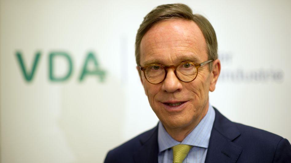 VDA-Präsident Matthias Wissmann: Ohne strenge Vorgaben nur ein Vor-sich-hin-Wurschteln
