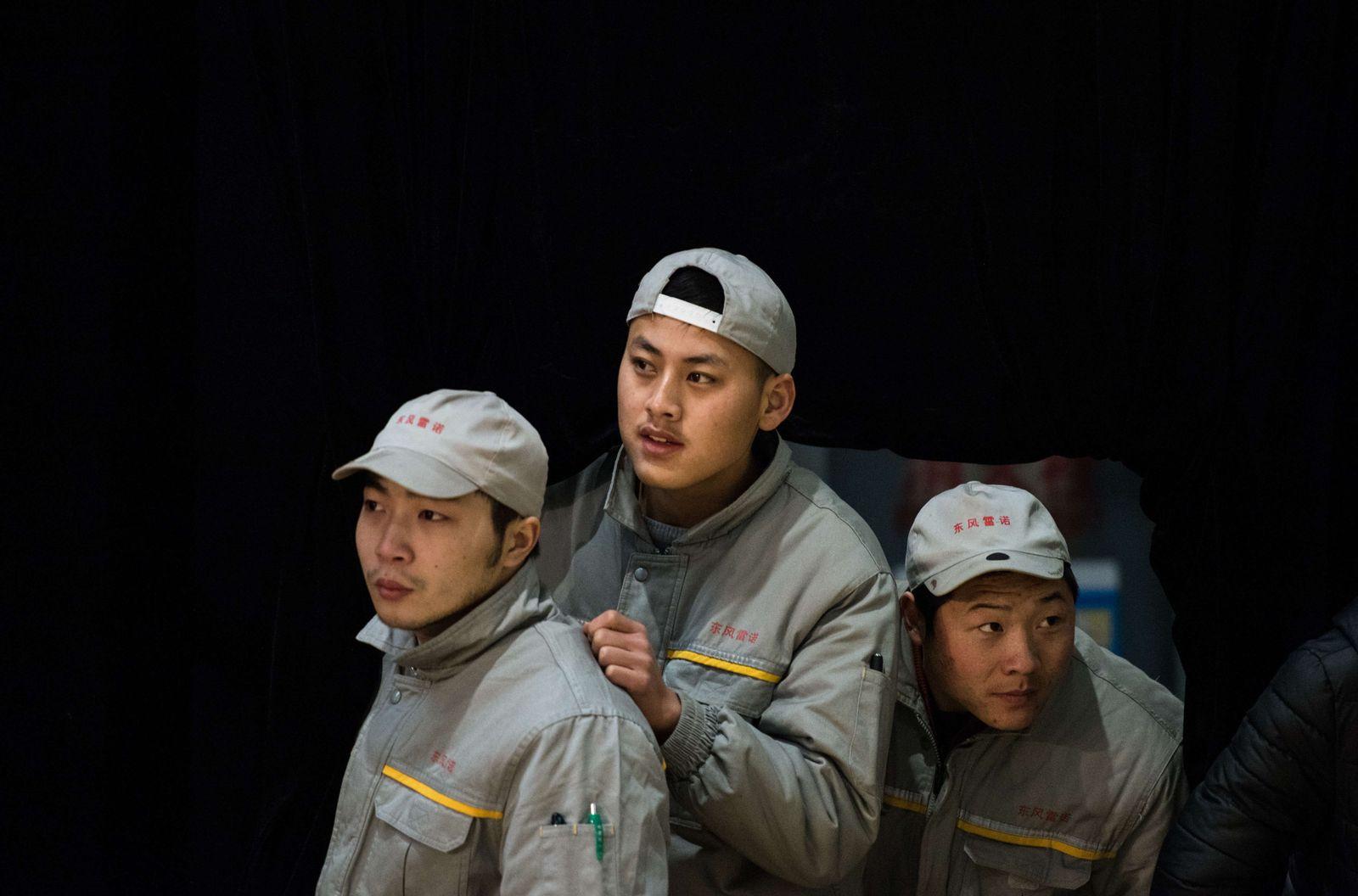 China Fabrikarbeiter