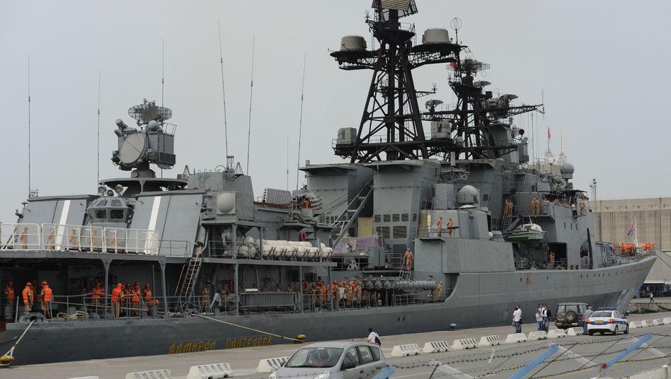 """Russisches Kriegsschiff """"Admiral Pantelejew"""": Verstärkung im Mittelmeer"""