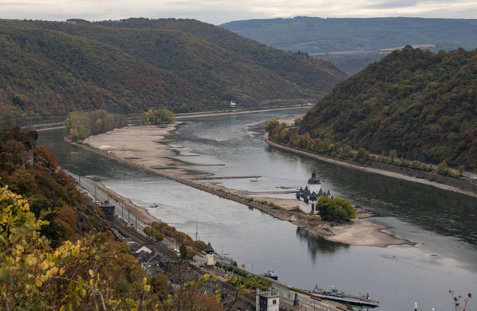 Niedrigwasser im Rhein