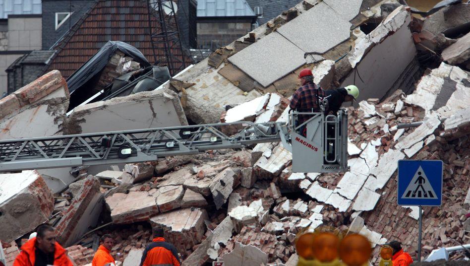 Pfusch am Bau: Die Trümmer des historischen Stadtarchivs in Köln