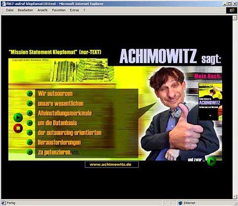 """""""Spruchklopfomat"""": Per Mausklick zur Marketing-Karriere?"""