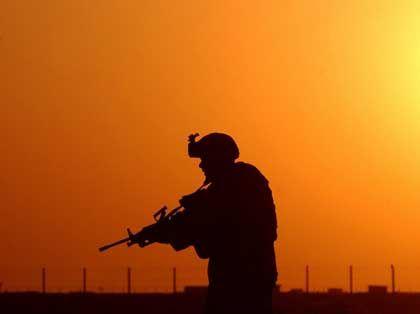 US-Soldat im Irak (bei An Nadschaf): Am Leben bleiben, dann schnell nach Hause
