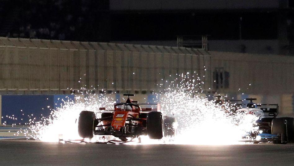 Bahrain 2019: Sebastian Vettel im defekten Ferrari