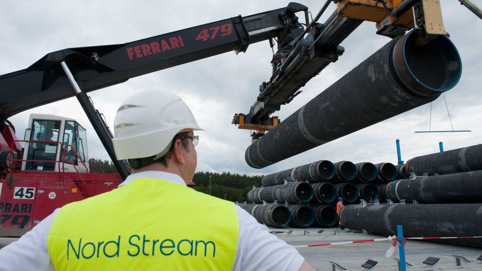 Bauarbeiten an der Nord Stream Ostseepipeline