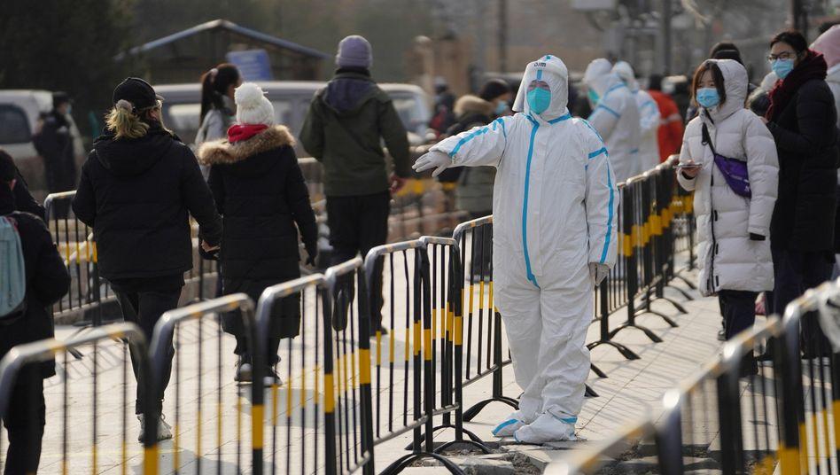 In Peking wurden in den vergangenen Tagen Hunderttausende Menschen auf das Coronavirus getestet