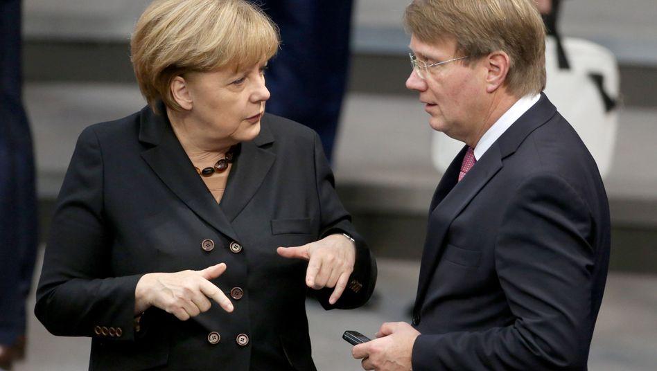 Kanzlerin Merkel, ehemaliger Vertrauter Pofalla (2013): Immer alles unter Kontrolle