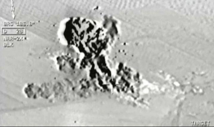 Blick aus Cockpit eines türkischen Jets: IS-Stellungen bombardiert