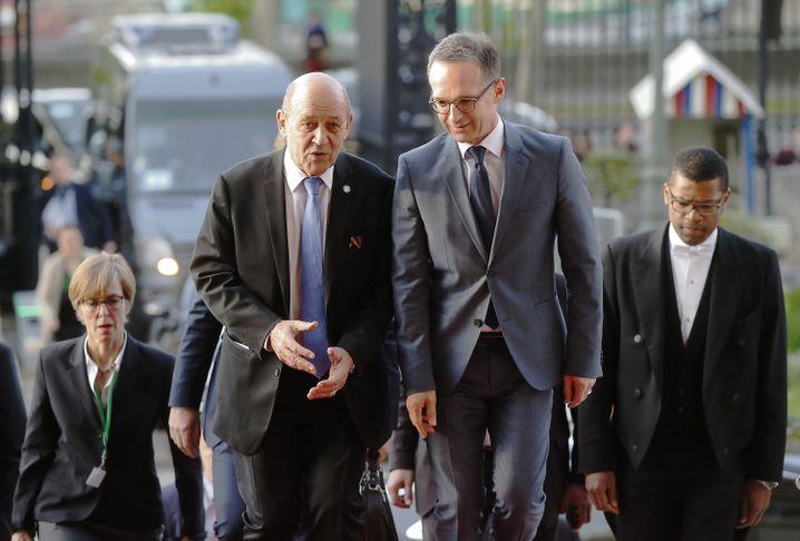 Jean-Yves Le Drian und Heiko Maas in Paris