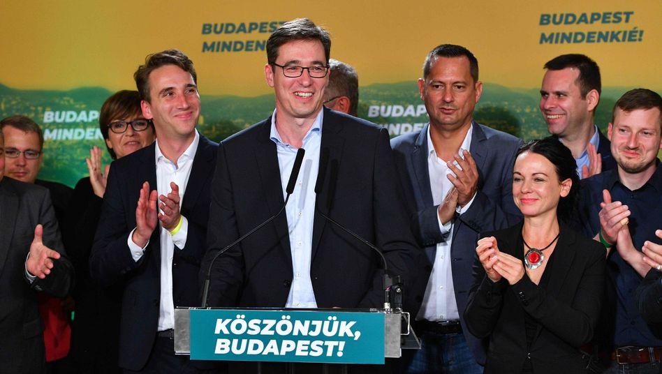 Strahlender Sieger: Oppositionskandidat Gergely Karacsony ist neuer Bürgermeister von Budapest